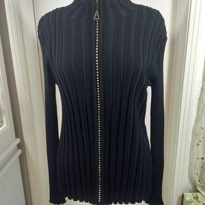 Belldini size large cable cord black sweater